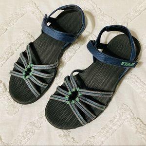Teva Kayenta Blue Strappy Sports Water Sandals 6